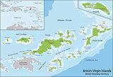 British Virgin Islands map