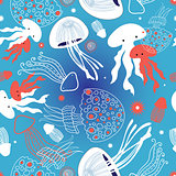 graphic pattern jellyfish