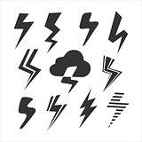 Set of Symbols Lightning