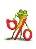 Frog and the Percent Sign