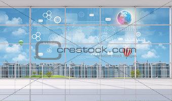 Cityscape indoor view