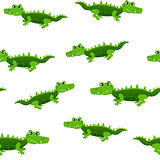 Seamless pattern of crocodile