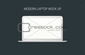 Blank laptop mock-up