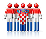 Flag of Croatia on stick figure