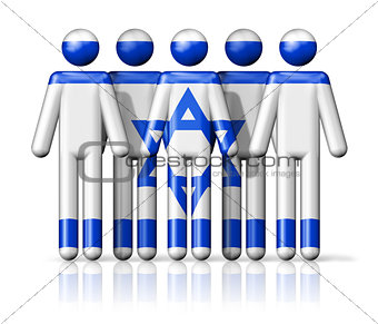 Flag of Israel on stick figure