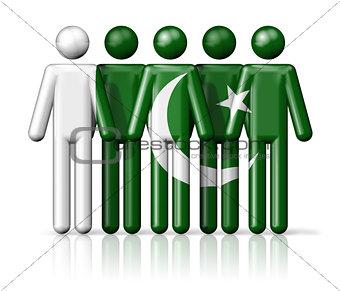 Flag of Pakistan on stick figure