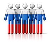 Flag of Russia on stick figure