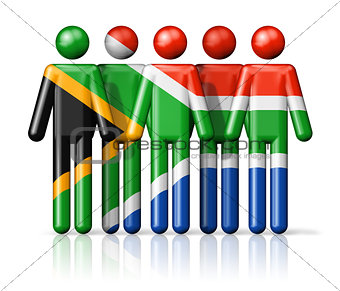 Flag of South Africa on stick figure