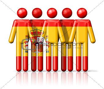 Flag of Spain on stick figure