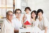 Asian multi generations lifestyle