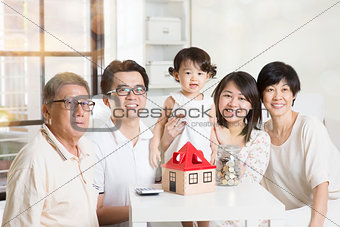 Asian multi generations lifestyle