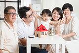 Asian family financial concept