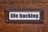 life hacking  tag - file cabinet label