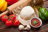 Pizza cooking ingredients