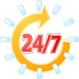 Open 24 by 7 Illustration clipart