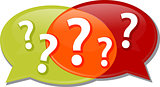 Questions dialog conversation talking Illustration clipart