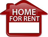 Home for rent sign Illustration clipart