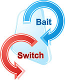 Bait and switch business diagram illustration