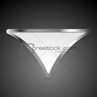 Abstract metallic triangle logo