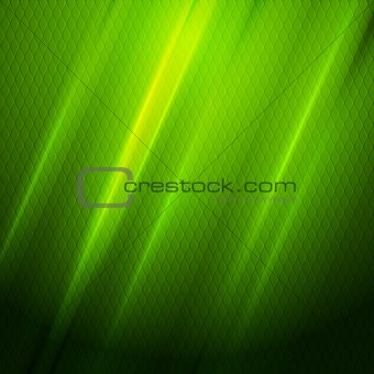 Green shiny hexagon texture background