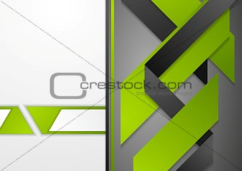 Abstract corporate tech flyer design