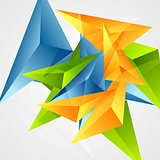 Bright triangle shapes vector background