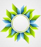 Bright corporate geometric logo with circle