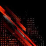 Dark red grunge tech vector background