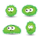 collection of cartoon germs