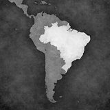Map of South America - Brazil