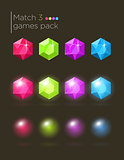 Vector set of gems for casual games