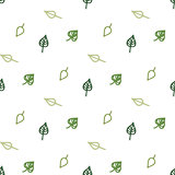 Seamless stylized green leaves pattern