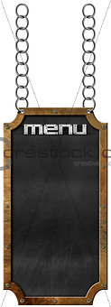 Food Menu - Blackboard with Chain