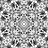 Seamless Outline Floral Pattern