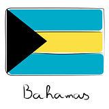 Bahamas flag doodle