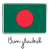 Bangladesh flag doodle