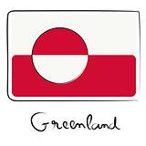 Greenland flag doodle