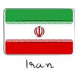Iran flag doodle
