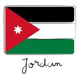 Jordan flag doodle