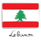 Lebanon flag doodle