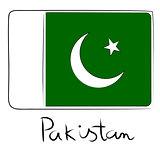 Pakistan flag doodle