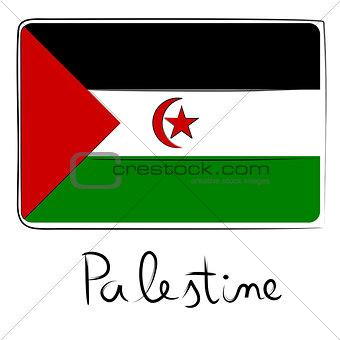 Palestine flag doodle