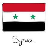 Syria flag doodle