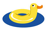 rubber duck vector. Summer vacation concept.