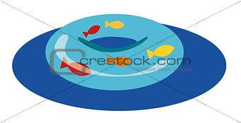 Float, summer icons. Vector illustration.
