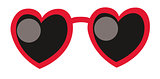 Heart Sunglasses. Love concept. Vector illustration.
