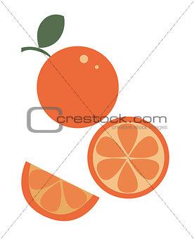 slice of orange juice vector.