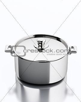 3d Metallic pan.