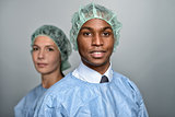 Confident Medical Professionals in surgery gown