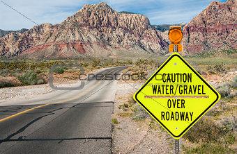 Flood Area Warning Sign
